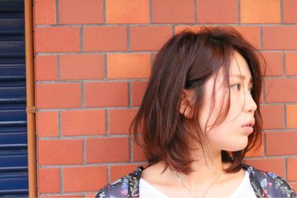 ボブスタイル。暖色で柔らかく!  Hair&Make HUG所属・前野由香のスタイル