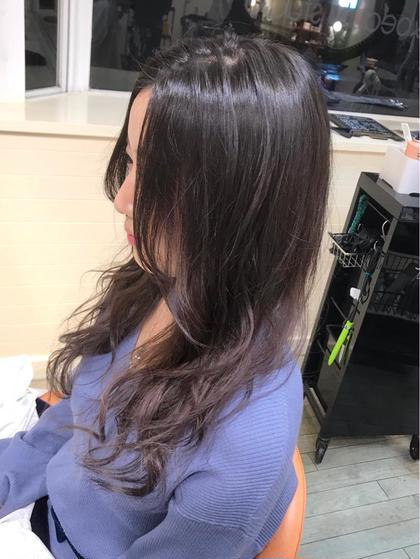 その他 カラー セミロング アメジストグレージュのグラデーションカラー  毛先ブリーチ×2階は必須ですが、キレイであわい色が出ます!