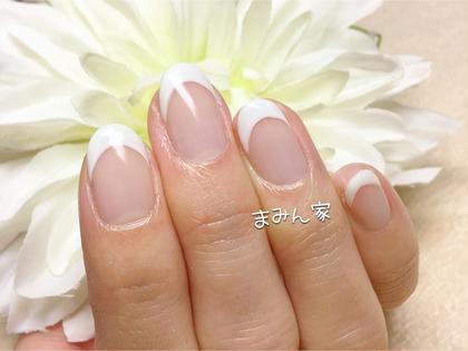 《ミニモ限定クーポン》HAND フレンチネイル ☆ラメライン付(ケア、オフ込)