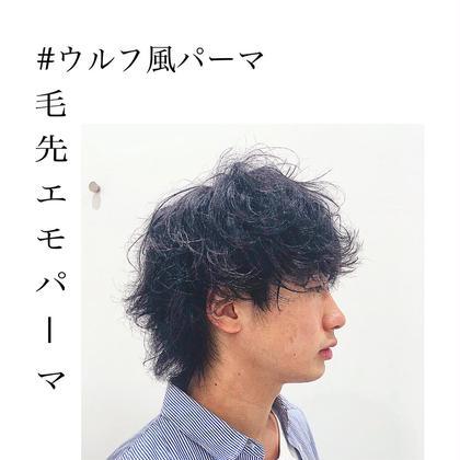 ☠️メンズ☠️カット+パーマ 7700円