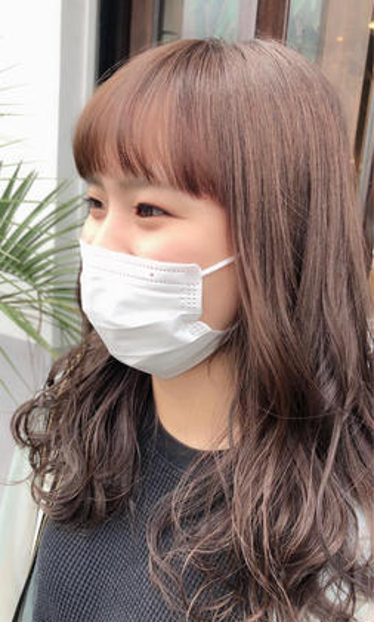 学生さん限定オシャレ可愛い春カラー🌸❤️ヘアカラー+ダメージ補修トリートメント付き❗️スペシャル価格で髪もツヤツヤに