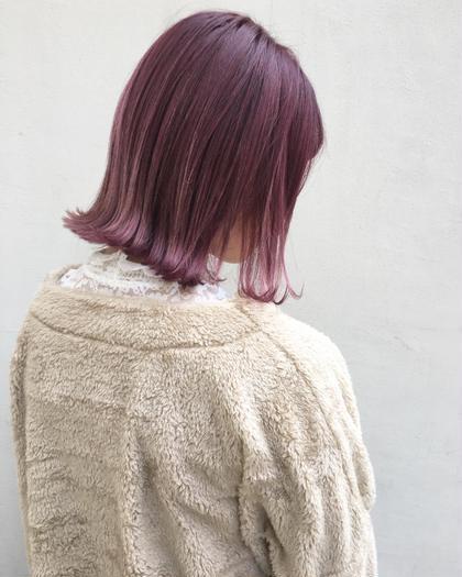 カラー ショート ピンクバイオレット