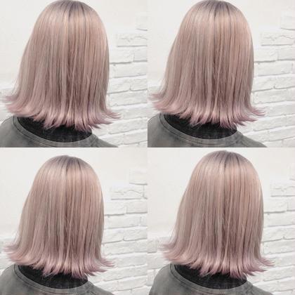 カラー ショート lavender White