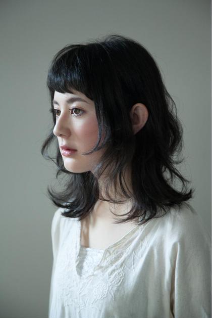 黒髪でも前髪を短くすることで軽さがでます✳︎短い前髪大歓迎✂︎ Raw  hair design所属・クニエダエリコのスタイル