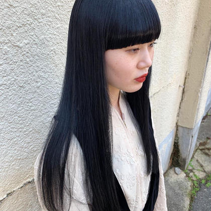 【黒染めせずに透明感ある暗髪に!】アディクシースロウカラー+うる艶TR