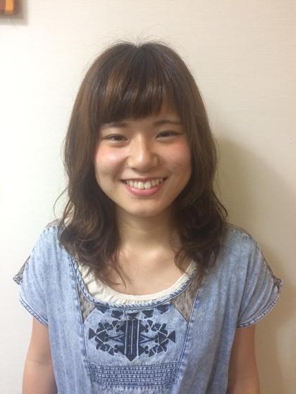 ゆるふわパーマで夏を可愛く\(^o^)/ hair an floren所属・みつはしかずきのスタイル