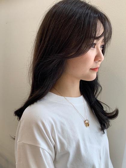 ❄️透明感、艶髪、韓国❄️  小顔cut + オルチャンカラー + うる艶色持ちトリートメント
