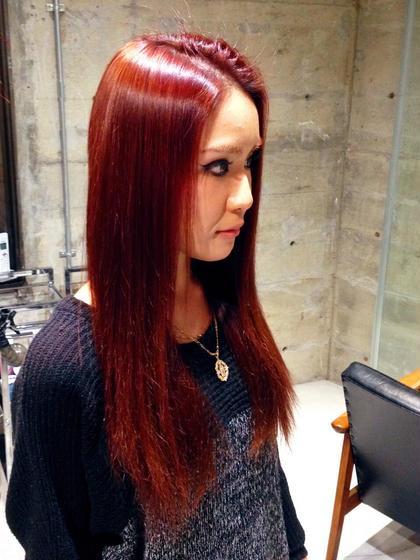 赤みが強めのカラー TRUSTY所属・SATOTAKUYAのスタイル