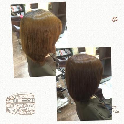 黄色く退色してしまった髪の毛にベージュとピンクを入れることで深みのあるピンクブラウンへ!!  春にぴったりのピンク。 是非一度お試し下さい(^-^)/ beauty and care CALON所属・松田力丸のスタイル