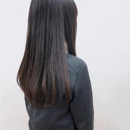 カット & 全体縮毛矯正+トリートメント