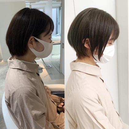 🧁小頭、小顔、髪質改善🧁メンテナンスカット+oggiotto+コテ仕上げ🧁ウルフ、ボブ、ショート、ヨシンモリ🧁