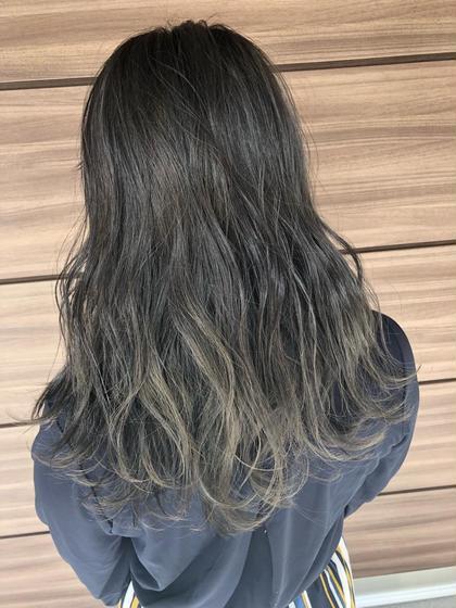【髪質改善!外国人風グラデーションカラー!】 部分ブリーチ+ファイバープレックス+ワンメイクカラー+AujuaTR