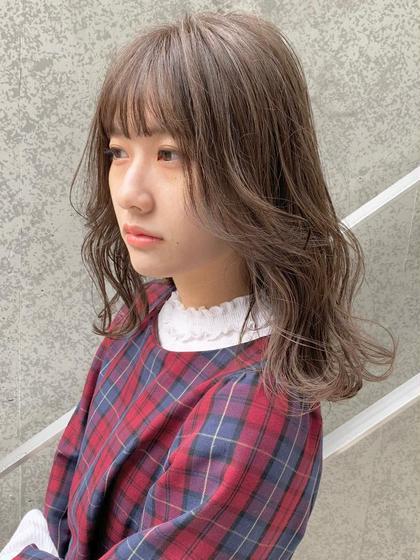 カラー+前髪カット