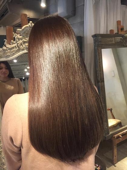 髪質改善✨弱酸性ストレートパーマ&弱酸性カラー&骨格補正カット