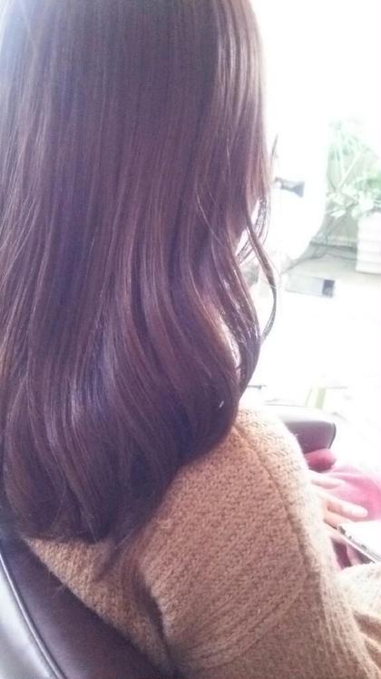 シアモーヴピンク×ブラウン A'J hair所属・長岡未希のスタイル