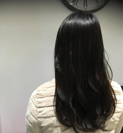 実習のためにトーンダウンされたお客様♪ 少しグレーも混ぜているので、重すぎない黒髪に♪ aileorganicsalon西大寺店所属・硲文香のフォト