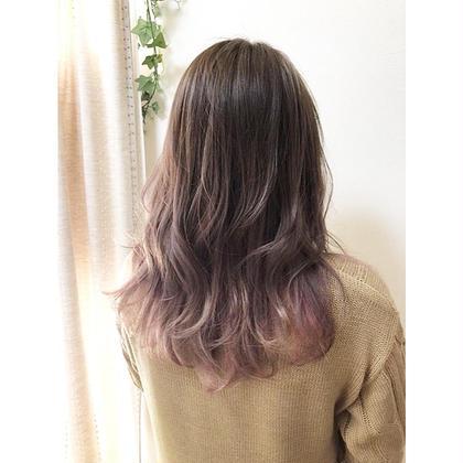 【毛先で遊ぶ裾カラー】外国人風グラデーションカラー+カット