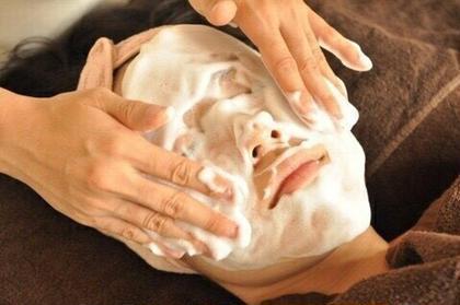 イオン導入のふわふわクリーム洗顔\( ˙꒳˙ \♡ 🏆Accueil池袋本店所属・美肌蘇生カウンセラー三枝由里奈のフォト