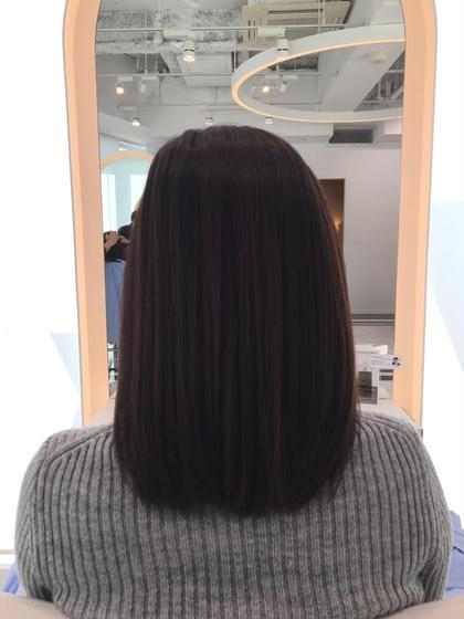 トリートメント処方のお薬を使い髪へのダメージを最小限に抑えたストレートパーマです!  ZA/ZAAOYAMA所属・tezukahinakoのスタイル