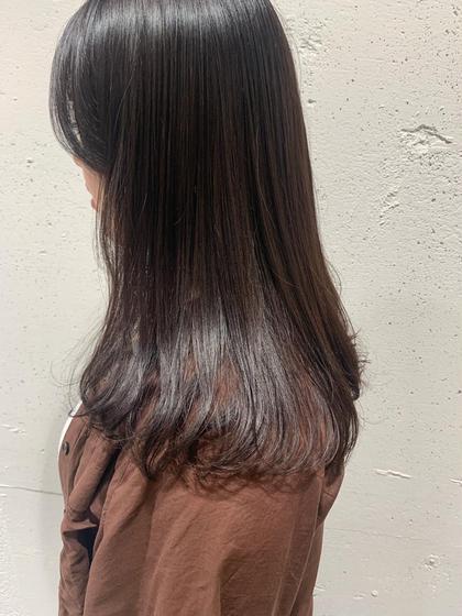 忙しい方に前髪カットと艶カラー🍂  前髪カット+カラー+前処理トリートメント