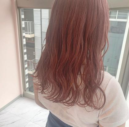 🌸🧡オレンジ&ピンク系カラー🧡🌸ブリーチ&カラー&色持ちトリートメント💖
