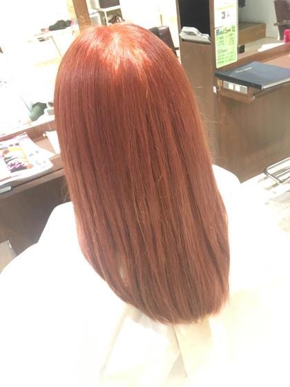 ダブルカラー 秋っぽく暖色カラー✩ Lee   Luce所属・大林亜樹斗のスタイル