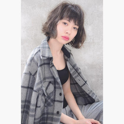 カラー ショート パーマ HuwaKushuBOB  #NAKAIstyle #nonnative #ふわくしゅ #bob #perm #street #casual
