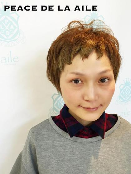 丸くなるようにカット❤︎  目の大きい方や癖がある髪質におススメです(^^)   aile所属・石河史佳のスタイル