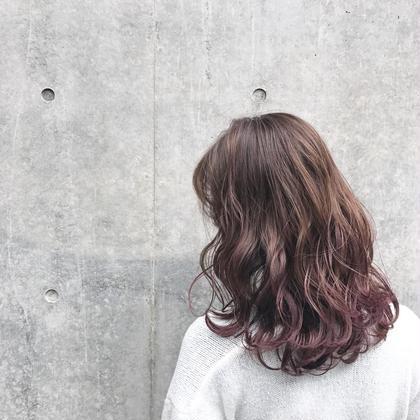 ベリージュ×グラデーション ✨店長✨井町真人のミディアムのヘアスタイル