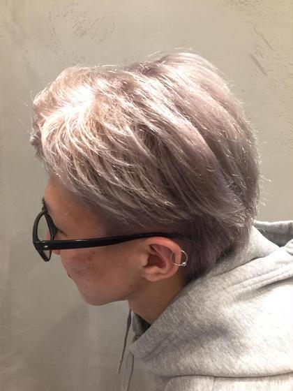 シルキーホワイト  ラベンダー配合で色落ちも綺麗に✨ Spica所属・ハギワラマリエのスタイル
