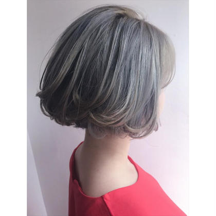 カラー ミディアム BlueWhite   bleach × 2  13000yen 〜