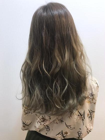 外国人風バレイヤージュカラー&美髮ナノケアトリートメント