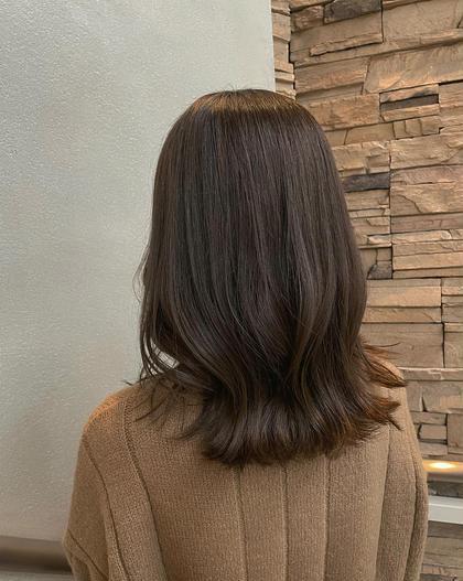 《人気No.1✨》事前ダメージケア付き!!小顔カット+透明感艶カラー+オージュアトリートメント+髪質改善シャンプー