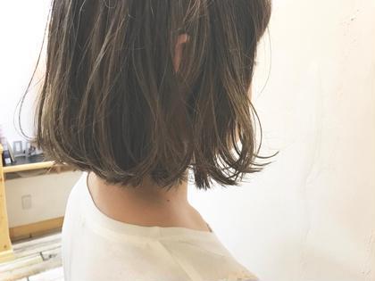 ✏︎☺︎地毛風カラー×ハイライト☺︎✏︎  大人気カラーです* krabatbyKOCHABのショートのヘアスタイル