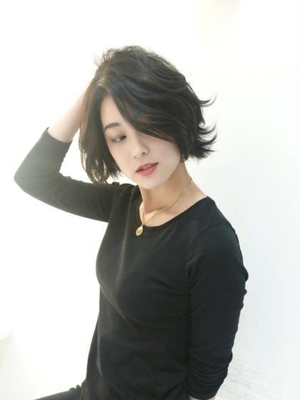 黒髪外ハネボブ バロック 立川 newtonグループ所属・石田裕紀のスタイル