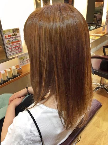 明るめキャラメルbeige♡さらにハイライトで透明感プラス♫ 髪の修復専門店 ジールーム所属・千葉衣里子のスタイル