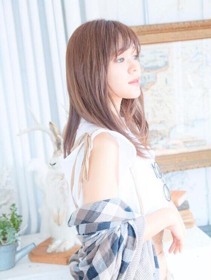 ・うる艶、さらさらヘアーに☆  シングルカラー【オーガニックカラー】+【トリートメント✨】 《新規限定》