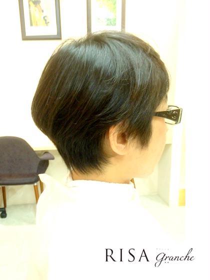 レディースショート メリハリカット 頭の形がよく見えるカット  WAX仕上げ  kazuカット RISA hair design所属・内瀬戸雄将のスタイル