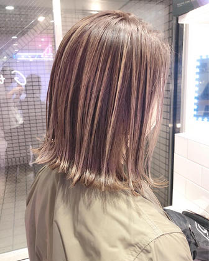 💛気軽にオシャレを💛似合わせハイライト&透け感カラー & メンテカット&コラーゲントリートメント