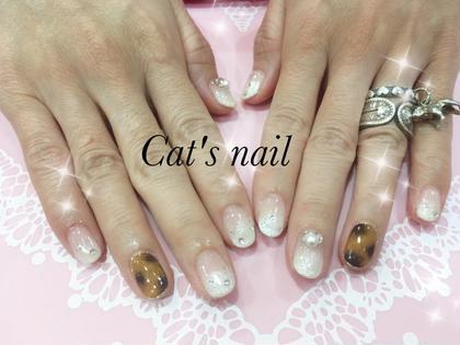 #べっ甲  #白グラデーション Cat's nail所属・原口芹香のフォト