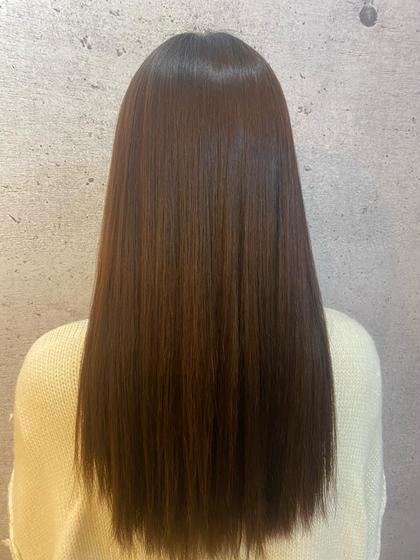 🐝大好評💗カット+酸性ストレート+2stepsトリートメント🌼ブリーチ毛の方も相談ください❣️学割1000円引き