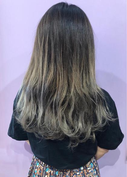 その他 カラー ロング バレイヤージュ グラデーションカラーがオススメです😊🍀  地毛を暗くする事で、伸びて来た時にも 気にならず毛先は毎回お色味を 楽しんで頂ける大人気カラーです❤︎☺️