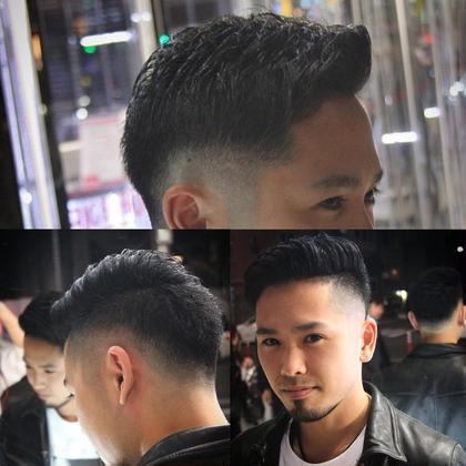 #メンズ #フェード #短髪 渋谷たくみのメンズヘアスタイル・髪型