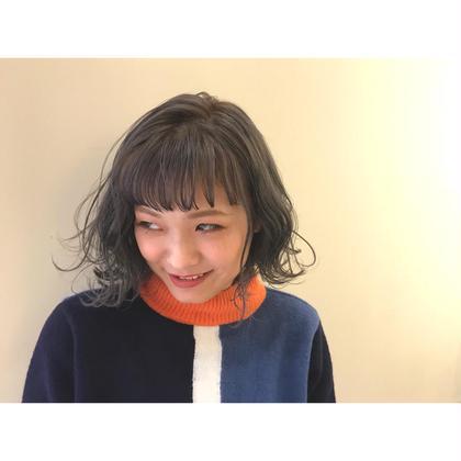 カラー ヘアアレンジ ミディアム