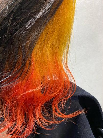 ⭐️minimo限定✨1番人気Wカラー✨インナーor裾カラー+透明感カラー(ブリーチ込み)+炭酸ケアシルクTR