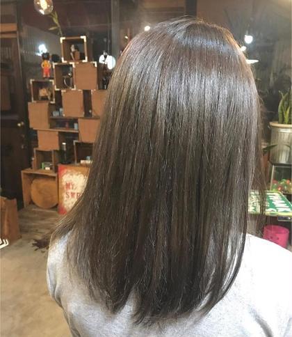 赤み撃退カラー バチバチに痛んだ髪もトリートメントでサラツヤに✨ hairadlib所属・玉木育実のスタイル