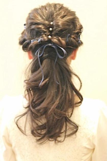 【結婚式‼️花火大会‼️クリスマスパーティー‼️】 特別な日のSETはAiMERにお任せくださいね⭐︎ 可愛くします✨ AiMER hair salon所属・AiMERhair salonのスタイル