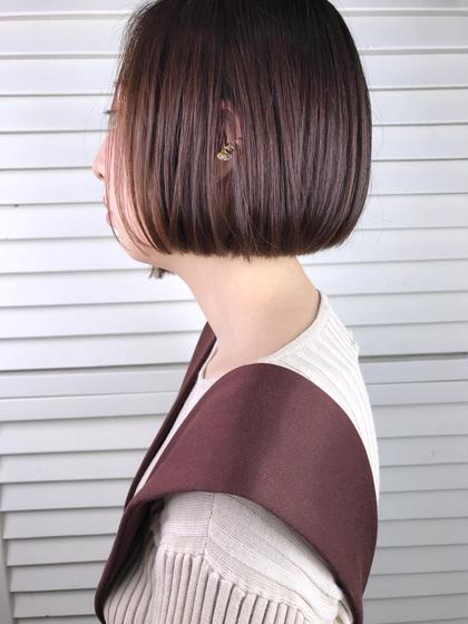 その他 カラー ショート パーマ ヘアアレンジ Real salon work💈 【 mini bob / violet 】 . アゴ上で切り揃えたミニボブに バイオレットカラーがcool & feminine🍷 . コテ要らずでキマるお洒落hair***