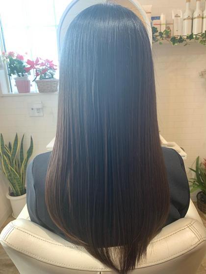 最新!髪質改善トリートメントコース+カット+縮毛矯正(ストレートパーマ)