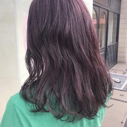 カラー ロング purple 🍇🍇🍇 ブリーチベースだと色落ちが 白っぽくなってよりかわいいです